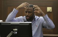 Witness Raychides Gomes-Sanches testifies during the double murder trial for former New England Patriots tight end Aaron Hernandez at Suffolk Superior Court Thursday, March 9, 2017, in Boston. Hernandez is on trial for the July 2012 killings of Daniel de Abreu and Safiro Furtado who he encountered in a Boston nightclub. The former NFL player is already serving a life sentence in the 2013 killing of semi-professional football player Odin Lloyd. (AP Photo/Steven Senne, Pool)