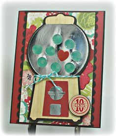 """Simply Elegant Paper Crafts blog; Echo Park """"This & That"""" 12x12 papers and 10cents sticker; SU early espresso card stock; The Twinery """"caribbean"""" twine; Cticut """"Sweethearts"""" cartridge"""