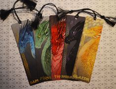 LIMITED: Dragons of Alagaësia Bookmark Set Five Dragons from