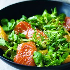 Super-healthy and really light, this beautiful salad is bright-looking and -tasting. These days it's not too difficult to find great-quality raw salmon. If you ask your local market for sushi-grade salmon, its freshness will be guaranteed. Once you have found the salmon, the hard work is done.