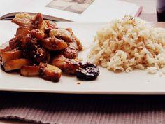 Una receta de cerdo agridulce diferente, con calabaza... + lo que se pierde el stand up sin mí...