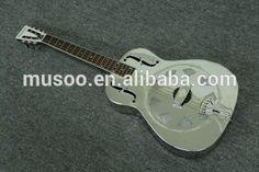 Musoo brand resonator metal with nickel plated acoustic guitar