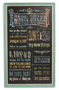 'House Rules' Wall Art
