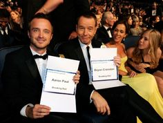 Bryan Cranston and Aaron Paul,   Breaking Bad  most deserved!!!!!!!