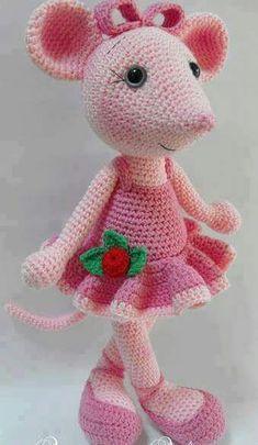 Mesmerizing Crochet an Amigurumi Rabbit Ideas. Lovely Crochet an Amigurumi Rabbit Ideas. Crochet Mouse, Crochet Amigurumi, Knit Or Crochet, Crochet For Kids, Amigurumi Patterns, Crochet Crafts, Crochet Dolls, Yarn Crafts, Crochet Baby