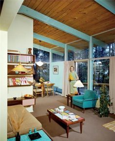 Vintage Mid Century Modern living room. I had a house very similar to this--first house I ever bought
