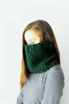Cowl Scarf for women  men knit neck warmer  Chunky by Ankleknits