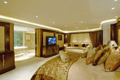 "Lurssen Yachts 224' ""Kismet"" -  View of master bath"
