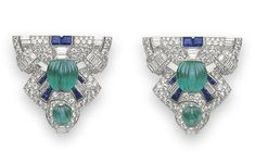 A hint of art deco pleases me greatly. Bijoux Art Deco, Art Deco Earrings, Art Deco Jewelry, High Jewelry, Jewelry Accessories, Art Nouveau, Antique Jewelry, Vintage Jewelry, Art Deco Dress
