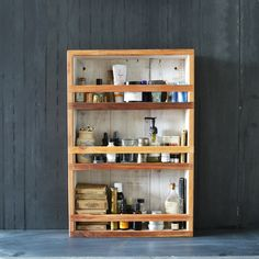 Apothecary Cabinet Made of Reclaimed Cypress and Milkpaint - Perfect for Kitchen, Bathroom or anywhere else lots of littles collect!