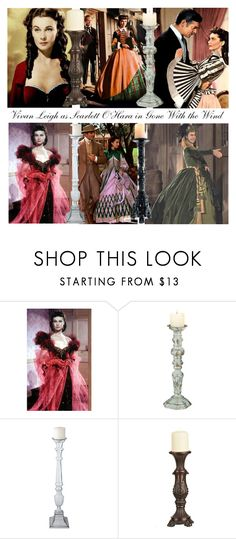 """""""Vivian Leigh as Scarlett O'Hara!"""" by bevmardesigns ❤ liked on Polyvore featuring Harlot, SCARLETT, Foreside, Lazy Susan, Grandin Road, women, fashionset and womensFashion"""