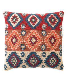 This Rhombus Wool-Blend Pillow by Peking Handicraft is perfect! #zulilyfinds