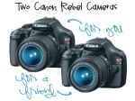 HUGE Giveaway: TWO Canon Rebel Cameras + $300 in Gift Cards!