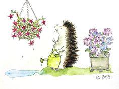 Harriet Hedgehog - Garden Queen