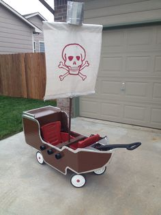 Halloween wagon pirate ship. Aarrrggg!