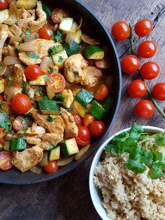 Kyllingpanne med red currypaste og couscous