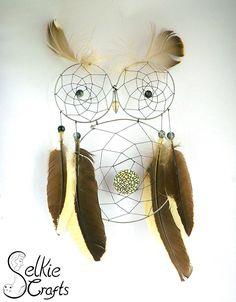 Black and White owl dream catcher.