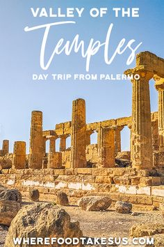 If you find yourself in Sicily then you need to see the Valley of the Temples! See all about how to take a day trip from Palermo and see ancient history! Venice Travel, Rome Travel, Travel Europe, Italy Destinations, Amazing Destinations, Backpacking Europe Tips, Italy Travel Tips, Cannoli, Palermo
