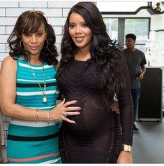 Angela Simmons and Her Mom Black Celebrity Kids, Celebrity Couples, Celebrity Style, Black Actors, Black Celebrities, Celebs, Beautiful Family, Beautiful Black Women, Black Love