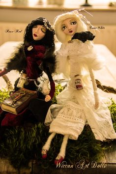 The Wiccan Sisters Rose Red and Snow White by WiccanDolls on Etsy