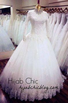 Pretty white wedding dress for hijab - I still think this is gorgeous!