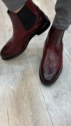 Collection: Fall – Winter Product: Chelsea Boots Shoes sole: Rubber Shoes Material: Leather Available Size: Gift: Belt Leather Dress Shoes, Mens Leather Shoes, Italian Leather Shoes, Shoes Men, Balenciaga Shoes, Gucci Shoes, Mezlan Shoes, Gents Shoes, Ankle Boots