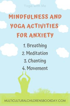 Mindfulness Activities and Yoga Moves for Anxious Kids - Multicultural Children's Book Day Teaching Mindfulness, Mindfulness Books, Mindfulness For Kids, Mindfulness Activities, Kids Mental Health, Mental Health Matters, Relaxation Techniques For Sleep, Kids Coping Skills, The Fun Factory