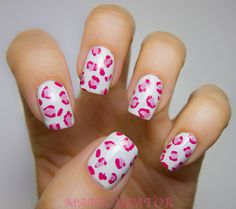 Nail Designs With Leopard Print - http://www.mycutenails.xyz/nail-designs-with-leopard-print.html