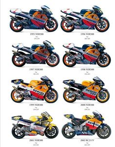 Honda nsr500 /rc211v Motorcycle Posters, Retro Motorcycle, Motorcycle Types, Motorcycle Bike, Ktm Motorcycles, Honda Bikes, Honda Cbr 1000rr, Honda Cbr 600, Course Moto