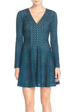 BCBGMAXAZRIA 'Kinley' Knit Sweater Fit & Flare Dress