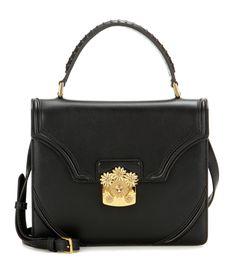 6683a645d2 Alexander McQueen - Flower leather shoulder bag - Alexander McQueen s   Flower  shoulder bag is