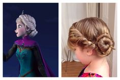 Elsa's coronation hair from Disney Frozen