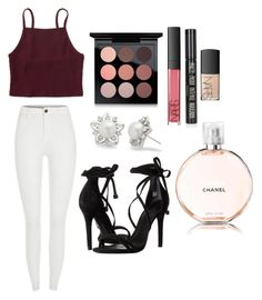 """Sping"" by alexxshaw45 ❤ liked on Polyvore featuring Aéropostale, NARS Cosmetics, MAC Cosmetics, Allurez, Chanel, Schutz and Topshop"