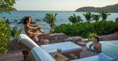 Villa Boutique Hotel El Ensueno by the Beach - Zihuatanejo Ixtapa Mexico Beach Boutique, Seaside Resort, Destin Beach, Most Beautiful Beaches, Beach Hotels, All Over The World, Villa, Tropical, Vacation