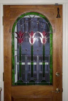 Nouveau Door stained glass by Phoenix Studio.