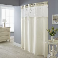 Serena 2-pc. Fabric Shower Curtain & Liner Set, White Oth