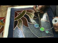 stained glass how to ideas sg9b sun project - YouTube
