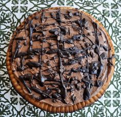 Rich Double Chocolate CheesecakePie.