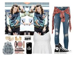 """Imagine For Contest! :)"" by xo-night-changes-xo ❤ liked on Polyvore featuring Frame Denim, R13, Topshop, Converse, Casetify, Charlotte Tilbury, H&M, GUESS and 3KayContest"
