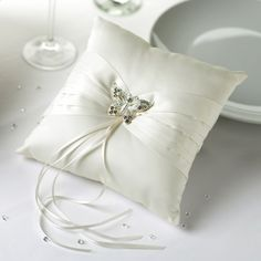 Buy your Ivory Elegant Butterfly Ring Cushion at Wedding Mall Wedding Ring Cushion, Cushion Ring, Butterfly Ring, Butterfly Wedding, Altar, Hand Fans For Wedding, Classic Wedding Rings, Wedding Venue Decorations, Butterfly Decorations