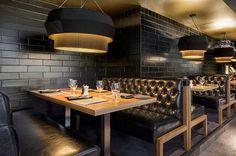 paineis estofados bares e cafes - Pesquisa Google