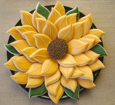 sunflower cookie platter