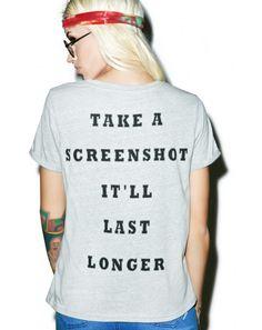 Mink Pink Screen Shot It Tee   Dolls Kill