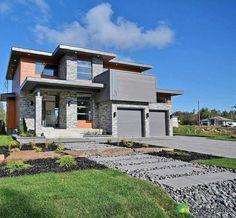 maison moderne trs belle maison ayant un tot plat on aime le mlange des