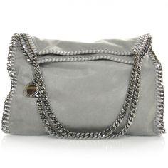 324fddc3a48 STELLA MCCARTNEY Leather Falabella Tote Light in Grey. Grey Bags