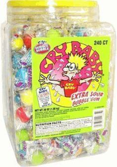 Cry Baby Extra Sour Bubble Gum 240ct. Tub: Amazon.com: Grocery & Gourmet Food