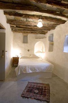rusztikus hálószoba, mediterrán vendégház, apartman
