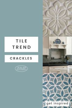 Tile Trend - Crackles Theres Something About A Beautiful Crackle Glaze, On Handmade Tile, That We Just Cant Get Enough Of. Pop Glazes Add A Subtle Sparkle To Any Project, Creating Diy Projects On A Budget, Easy Diy Projects, Beautiful Bathrooms, Beautiful Kitchens, Handmade Tiles, Eclectic Decor, Subway Tile, Home Remodeling, Diy Furniture
