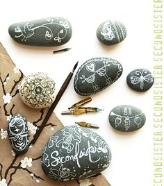 ... as I tend to do, and drew on a whole bunch of rocks. I had fun.