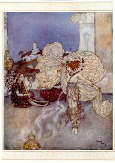 Edmund Dulac - Salome, Daughter of Herodias - Women of Myth and Legend; illustration for a poem by Andrew Dumas, Christmas 1911 Edmund Dulac, Kay Nielsen, Art And Illustration, Book Illustrations, Woodblock Print, Toulouse, Arabian Nights, Painting & Drawing, Vintage Art